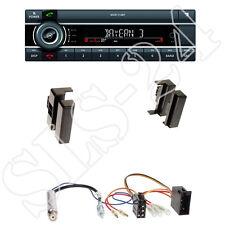 Kienzle MCR1116BT USB-Radio + Audi A4/A6/A8 1-DIN Blende schwarz +Anschlusskabel
