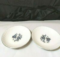 """Vintage Royal Blue Saucers Ironstone Enoch Wedgwood lot of 2  5 1/2"""" preowned"""