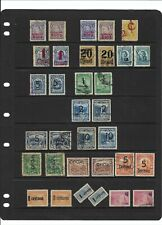 SURCHARGED VARIETYS OF COLOMBIA- 1921-1952