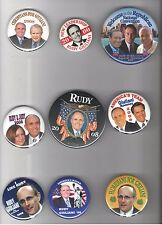 9 Rudolph Rudy GIULIANI 2000 - 2008  pin President Primary Draft Convention