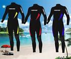 New Mens 3mm Black Neoprene Wetsuit Wet Suit Full Body Smooth Skin Surf Surfing