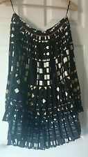 Topshop Women's Pleated Skirt Size 14 Long at Back Short at Front