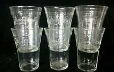 "PEPSI COLA GLASSES Antique Drinking Cups BRANDED 5"" Beverage Classic Soda Ad"