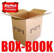 100x Book/Wine Moving Box 406 x 300 x 431mm Cardboard Carton Removalist BULK BUY