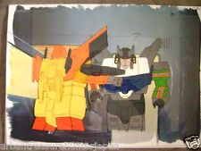 TRANSFORMERS HEADMASTERS AUTOBOT RAIDEN ANIME PRODUCTION CEL AND BACKGROUND