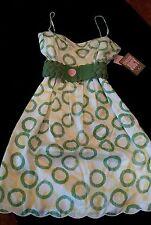 Choose Juicy Pond Moss Silk Dress*Sz 2*New w/tags*Designer*Sleeveless*Couture