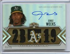2012 TOPPS TRIPLE THREADS #112 JEMILE WEEKS #30/99 AUTO JERSEY - OAKLAND A'S