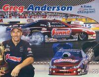 2013 Greg Anderson Summit Chevy Camaro Pro Stock NHRA postcard
