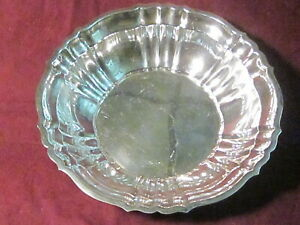 "Sterling Gorham #42667 CHIPPENDALE BOWL 9 1/2"" X 2 1/4"" 499g no monogram"