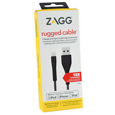 ZAGG Rugged Lightning USB MFI 1.2M Data Charge Cable For iPhone X/8+/7+//7/6s/5s