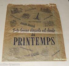 Ancien SACHET publicitaire Magasin Le PRINTEMPS PARIS - Femme élégante
