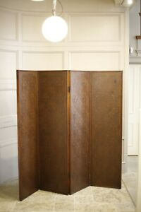 c.1900 Liberty and Co Leather folding screen
