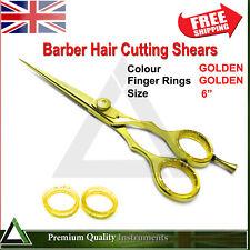 Hair Dressing Barber Saloon Cutting Scissors Hairs Trimming Spa Shears GOLDEN