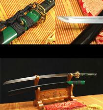 41'  1060 CARBON STEEL FULL TANG GREEN BLACK  JAPANESE SAMURAI KATANA SWORD