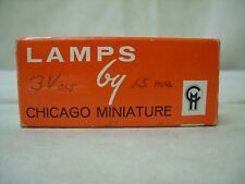 (8) REPLACEMENT BULBS FOR CHICAGO MINIATURE / CML CM375, EIKO 375 0.06W 3V
