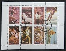 stamps Iso Isö Sweden Sverige Sports Olympic Games Running Rowing Ice Skating