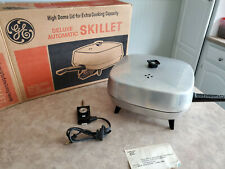 Vintage ~General Electric Aluminum Electric Skillet Deluxe Automatic 3406-345~