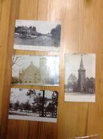 4 Postcards Wakarusa Winona Lake And Albion Indiana   RPPC INV-P166