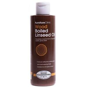 Furniture Clinic Boiled Linseed Oil for Wood Furniture & More | 8.5 oz (250 ml)
