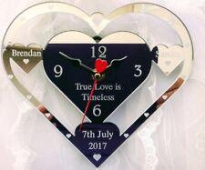 WEDDING CLOCK GIFT TRUE LOVE IS TIMELESS ,PRESENT ENGRAVED WEDDING PERSONALISED