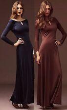 Reiss juleen Bronze Cowl Rücken Maxi Kleid Dress 10 38 £ 179!