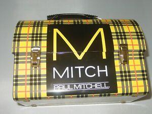 MAN UP MITCH PAUL MITCHELL METAL TIN ART TARTAN DESIGN LUNCH BOX STORAGE PRODUCT