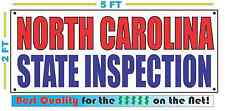 NORTH CAROLINA STATE INSPECTION Banner Sign NEW SIZE Best Quality for the $$