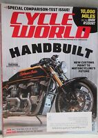 Cycle World Magazine August 2015 Handbuilt Performance Indian Twin Scout