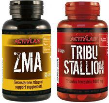 TRIBULUS TERRESTRIS 60 caps + ZMA 90 Caps Natural Stack Testosterone Booster
