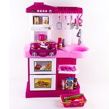 Children Play Kitchen Set Toy with Play Food and Cooking Accessories Christmas