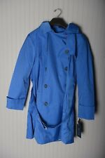 Tommy Hilfiger Women's Double-Breasted Trench Coat Nautical Blue XL 1X Hoodie