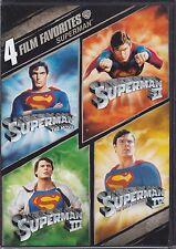 4 Film Favorite - Superman (DVD, 2008, 2-Disc Set) NEW