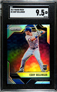 2017 Panini Prizm Cody Bellinger Silver SGC 9.5 RC Los Angeles Dodgers