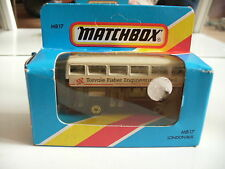 "Matchbox London Bus ""Torvale Fisher Engineering Limited"" in White/Black in Box"