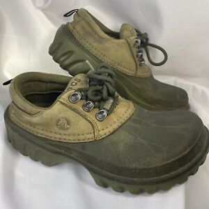 Crocs Leather Islander Camo Sport Boat Clog Shoes Mens Size 6 Womens 8 WORN IN