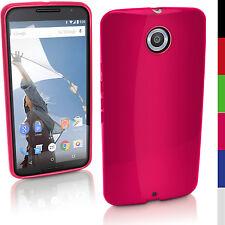 Rosa Solido Gel TPU Custodia per Motorola Google Nexus 6 XT1100 Cover Pellicola