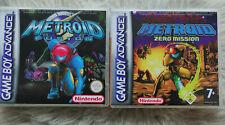 Metroid Fusion + Metroid Zero Mission für GameBoy Advance mit Custom Hülle TOP!