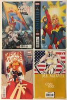 Captain Marvel #s 0 1 3 Ms Marvel 6 Civil War Lot of 4 Comics - Hot New Movie