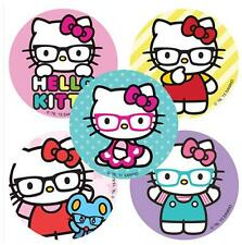 "25 Assorted Hello Kitty Nerd Glasses Stickers, 2.5""x2.5"" each, Party Favors"
