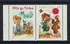 FRANCE TIMBRE - PAIRE 3467A - FETE DU TIMBRE 2002 NEUF LUXE ** BOULE ET BILL /2
