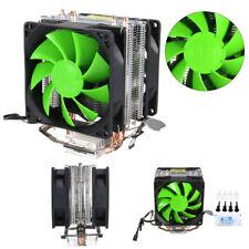 Muto a doppia ventola raffreddamento CPU dissipatore per Intel LGA775/1155/1156