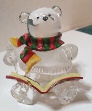 """Acrylic Christmas Bear writing in Christmas Book w/ Quill & Scarf - Figure 4"""""""