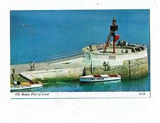 CORNISH POST CARD COLOUR PHOTO THE BANJO PIER AT LOOE