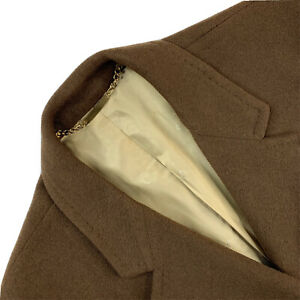 Mint VTG 44 L Neiman Marcus Brown 100 % Dhalishan Cashmere Over Coat Made USA