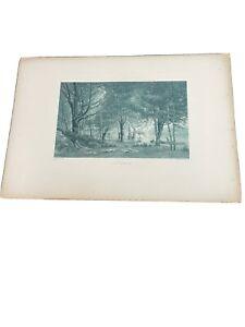 Early Morning 1887 Gravure. Coupil Et Gebbie & Co  Print Camille Bernier Pinx .