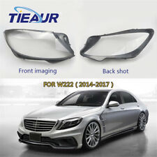 Right+Left Headlight Lens Cover Clear Shell Fit For Mercedes-Benz W222 2014-2017