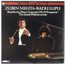 BEETHOVEN: Piano Concerto Emperor MEHTA LUPU London Digital LP NM- Super