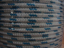 6mm x 100m Polyester Double Braid YACHT Rope Blue Fleck $15 FLAT POST AUST WIDE
