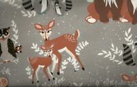 Oh Hello Fog Art Gallery gray woodland cute childrens  fabric