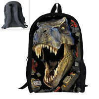 Men Backpacks School Bag Durable Dinosaur Printed School Bag for Boys  Fashion